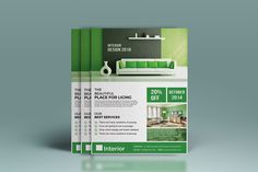 Interior Design Flyer by Pixelpick on @creativemarket