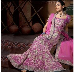 Indian Wedding Dresses   Pink indian wedding dresses  Bridal Makeup