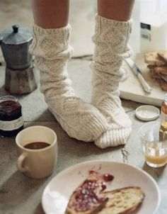 Cosy cosy cosy! Nothing like comfy socks and a lazy brunch.