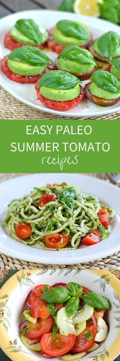 Fresh tomato recipes that are paleo, gluten-free, grain-free. So whether cherry, grape, heirloom or beefsteak, try these fresh ideas for summer tomatoes. ~ http://cookeatpaleo.com