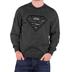 Sweat Superman Logo Gris