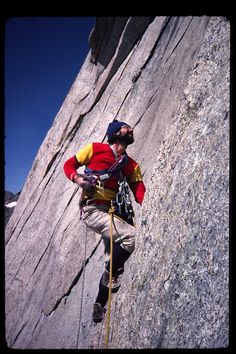 Goldstone climbing on Haystack Mountain in the Wind River Range.