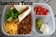 Lunch Box Tacos! These look AMAZING!