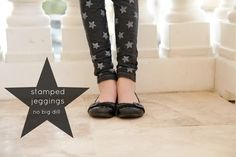Stamped jeggings