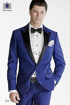 Latest Coat Pant Designs Blue Italian Men Suit Formal Skinny Prom Gentle Blazer Dinner Groom Tuxedo Custom Gentle 2 Piece Terno