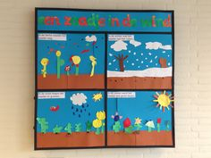 Een zaadje in de wind, het verhaal kort samengevat met knutsels van de kinderen.