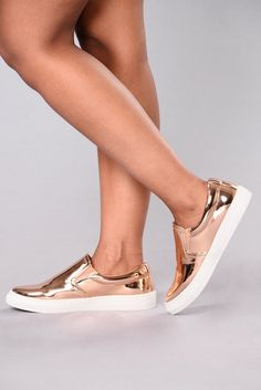 541d37443a6e5e Best Foot Forward Sneakers - Rose Gold Sneakers