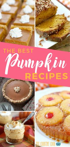 All of these Best Pumpkin Recipes are super easy to make for your family. Come and take a look and see if you can find a new fall pumpkin recipe to try this season. Go grab your comfy sweater and cozy on up by the fire. Best Pumpkin, Happy Pumpkin, Pumpkin Spice, Cooks Country Recipes, Country Cooking, Pumpkin Drinks, Pumpkin Recipes, Thanksgiving Recipes, Fall Recipes