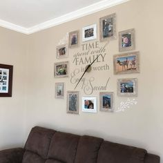 Stylish Wall Art Watch That Captures Family Moments In Picture Frames