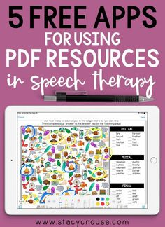 Are you an SLP that wants to save the hassle of printing every single activity for your speech therapy students? Try one of these FREE PDF reader apps on your iPad to not only eliminate the headache of printing, but also give your students an activity engages them with tons of interactive features such as shapes, lines, stamps, text, and highlighter! Speech Therapy Activities, Speech Language Pathology, Speech And Language, Baby Sign Language, Printing, Homeschool, Stamps, Students, Articles