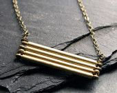 Stacked Cylinders Necklace, $40