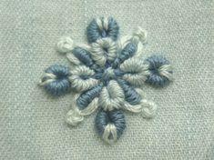 デニムに刺繍したイヤリング|【かんたん刺繍教室】たった6つのステッチだけでらくらく刺繍上達ブログ