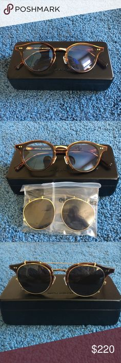 a0e32c7ebe1 Gentle Monster glasses with sunglasses clip Brand New! Bought last  September and never worn except