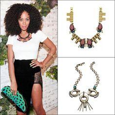 Solange Knowles's Deco Baubles #fashion #harpersbazaar #solangeknowles #necklace #style