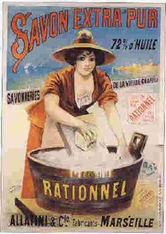 Savon Extra Pur le Rationnel Vintage Poster by Jean de Paleologue Wall Decal Vintage French Posters, Pub Vintage, Vintage Labels, Vintage Signs, Vintage Images, Poster Vintage, Retro Advertising, Vintage Advertisements, Soap Advertisement