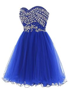 Sweetheart Cute Party Dresses,A-line Party Dresses,Tulle Party Dresses,Beading Party Dresses,Short Party Dresses