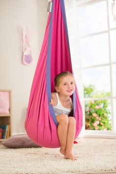 Perfect for the little girl who likes to daydream or relax. Swings create a calming effect and the Joki by La Siesta is not only great looking but durable. Hang it in bedrooms, playrooms or family rooms.