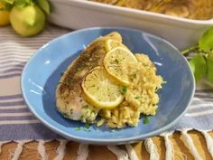 Get Greek Lemon Chicken and Orzo Casserole Recipe from Food Network