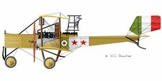 Caproni Ca.3 Unit: unknown Serial: unknown Circa 1915.
