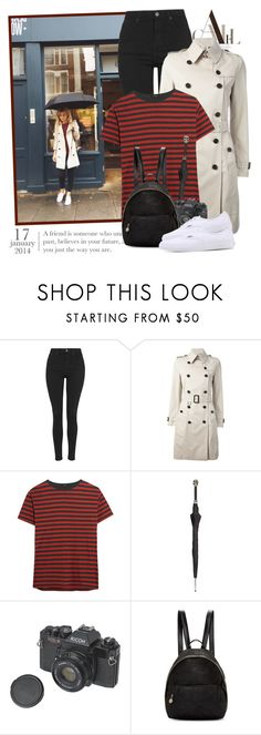 """""""2391. Blogger Style: Make Life Easier"""" by chocolatepumma ❤ liked on Polyvore featuring Topshop, Burberry, R13, Pasotti Ombrelli, STELLA McCARTNEY and Vans"""