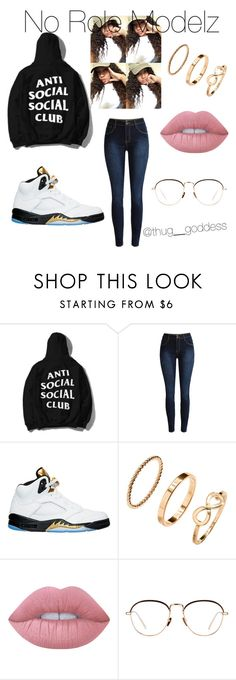 """""""No Role Modelz"""" by conversekelly ❤ liked on Polyvore featuring NIKE, H&M, Lime Crime, Linda Farrow, wattpad and thebombdigz"""