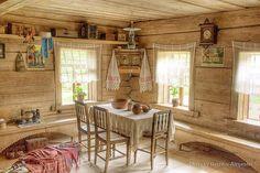 Кухня в избе, русская кухня Russian kitchen interior, Russian traditional kitchen style ロシア伝統的なキッチンスタイル、ロシアキッチンインテリア