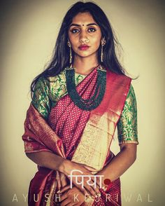 Kanjiveram Saree by Ayush Kejriwal For purchases email me at designerayushkejriwal@hotmail.com or what's app me on 00447840384707 We ship WORLDWIDE. Instagram - designerayushkejriwal