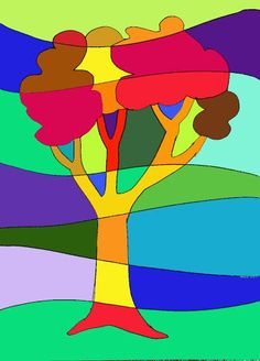 arteascuola: Ideas to work on the warm and cool colours Middle School Art, Art School, Drawing For Kids, Art For Kids, Classe D'art, Warm And Cool Colors, Warm Colours, 2nd Grade Art, Mondrian