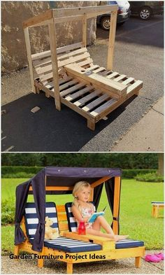 Creative DIY recycling ideas for shipping wooden pallets - wooden pallet id . - Creative DIY recycling ideas for shipping wooden pallets – wooden pallet ideas Every year there a - Diy Garden Furniture, Pallet Furniture, Furniture Projects, Furniture Decor, Furniture Plans, Furniture Design, Bedroom Furniture, Simple Furniture, Furniture Stores