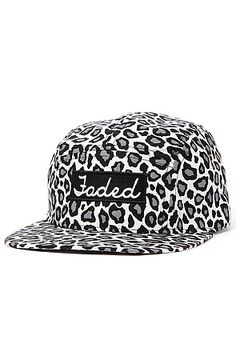 ec11a27a8be Faded Royalty Hat Snow Leopard 5-Panel in White White Leopard