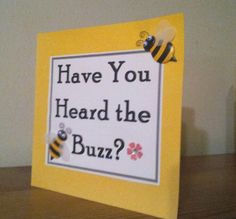Meant to Bee hand-crafted Bridal Shower Invitation