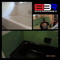 AFTER Bathtub Countertop Repair And Refinishing In Tyler - Bathroom remodel tyler tx