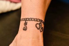 charm bracelet anklet tattoo - Google Search