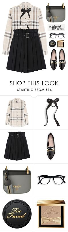 """""""I'm Gorgeous and I Know It"""" by celida-loves-pink ❤ liked on Polyvore featuring Burberry, Cara, Diesel, Kate Spade and Prada"""