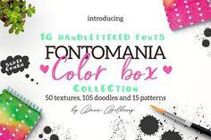 FONTOMANIA COLOR BOX by Daria Bilberry on @creativemarket