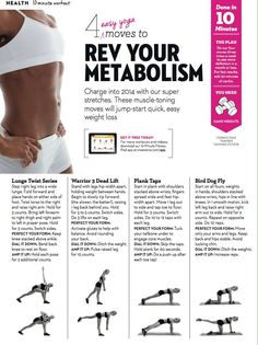 4 Yoga Easy Moves to Boost Metabolism #strong #fitness #printable