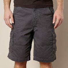 Mantaray Dark grey cargo shorts- at Debenhams.com   Men's S14 ...