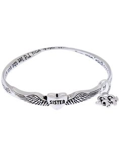 Sister poem poet twist mobius charm bangle bracelet winged heart inscribed words to live by family values * Insider's special review you can't miss. Read more  : Jewelry