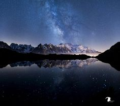 The milky way reflection by Ricou05 / 500px