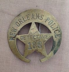 Obsolete-New-Orleans-Police-Detective-Badge-Vintage-Old-NOPD