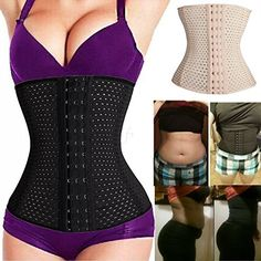 4b14cf1b1 DODOING Women s Underbust Corset Waist Trainer Cincher Steel Boned Body  Shaper at Amazon Women s Clothing store