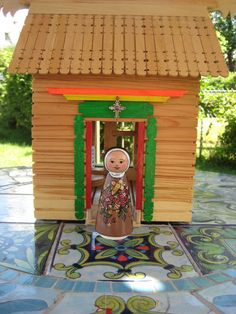 St. Therese Wooden Peg Doll (Etsy $22.00)
