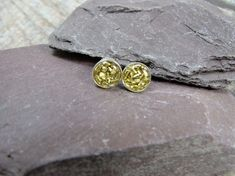 Sterling Silver and Brass Sparkle Studs £16.00