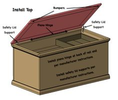 DIY Hope Chest - perfect toy box for Ethan, can convert to storage chest as he matures Woodworking Projects Diy, Diy Wood Projects, Woodworking Plans, Woodworking Furniture, Workbench Plans, Woodworking Classes, Furniture Plans, Woodworking Tools, Wood Crafts