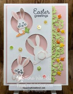 Best Bunny Easter ⋆ Tina Wardell~Stampin' Up! Independent Demonstrator - Jessica Metzinger - Best Bunny Easter ⋆ Tina Wardell~Stampin' Up! Independent Demonstrator Best Bunny Easter ⋆ Tina Wardell~Stampin' Up! Easter Crafts For Kids, Fall Crafts, Easter Projects, Bunny Crafts, Easter Ideas, Card Kit, Cool Cards, Kids Cards, Baby Cards
