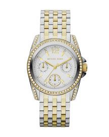 Michael Kors Mid-Size Two-Tone Stainless Steel Preseley Glitz Watch