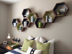 Hey, I found this really awesome Etsy listing at https://www.etsy.com/listing/182217042/geometric-wood-shelves-honeycomb-shelves
