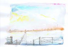 Winters landschap bij Wijk bij Duurstede