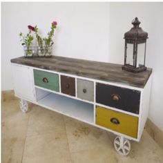 Retro Vintage Industrial TV Cabinet /urban /vintage /media store unit in Home, Furniture & DIY, Furniture, TV & Entertainment Stands Cheap Patio Furniture, Furniture Direct, Affordable Furniture, Upcycled Furniture, Wood Furniture, Urban Furniture, Furniture Ideas, Reclaimed Furniture, Apartment Furniture