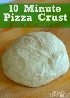 10 Minute Pizza Crust for Grilling from MomOnTimeout.com  Perfect for hot summer nights and busy schedules! #pizza #recipe